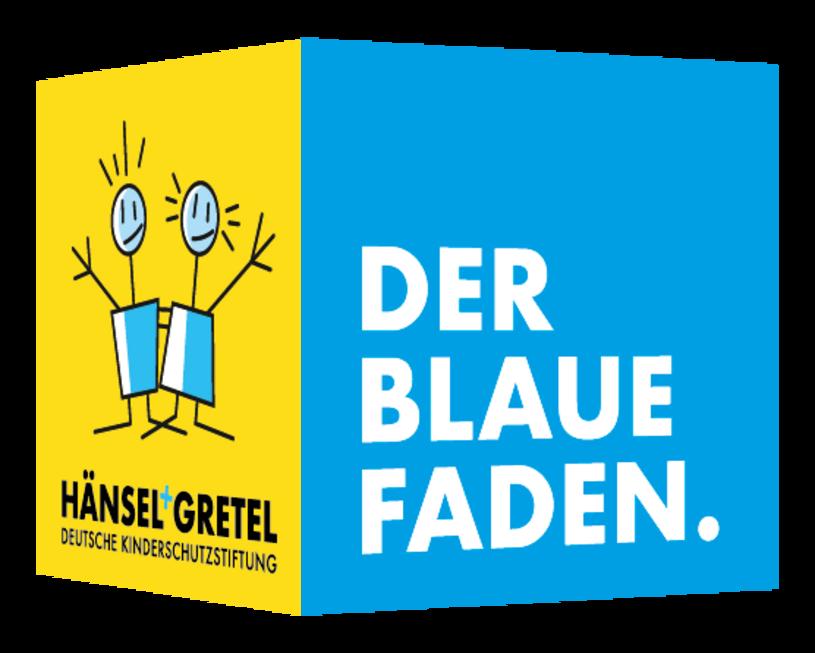 Karte mit Logo Der blaue Faden