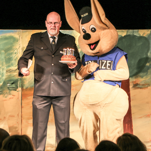 Huggy und der Polizeipräsident