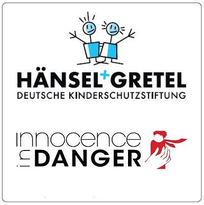 Logo der Deutsche Kinderschutzstiftung Hänsel+Gretel und Innocence in Danger