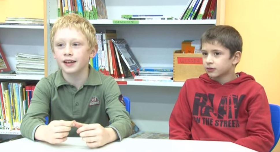 Kinder erklären das Notinsel-Projekt