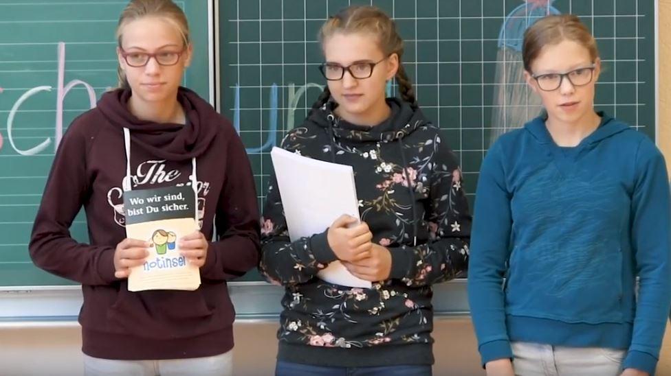 Schüler erklären die Notinseln